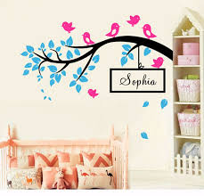 diy birds on tree branch vinyl wall decal wall decorative