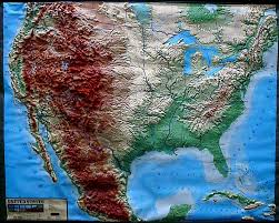 Huge Map Of The United States by Us Large Raised Relief Zoom