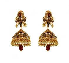 jhumki style earrings in gold 22k gold jhumka earrings ajer60821 22k gold traditional