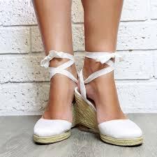 espadrille mariage white espadrille wedge heeled sandals white heels white