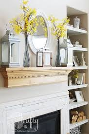 Fireplace Decorations Ideas A Few Key Pieces Like The Glass Jars And Driftwood Decor From