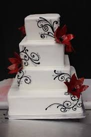 black silver and red wedding cake xtra special cakes