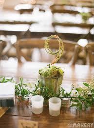 Table Numbers Wedding Elegant Moss Table Number Wedding Diy Camp Makery