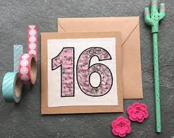 16th birthday card etsy
