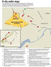 Moncton Canada Map by Timeline Of The Moncton Manhunt Toronto Star