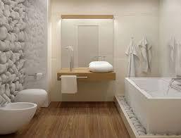 deco salle de bain avec baignoire salle de bain design avec parquet et mur galet blanc