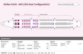 a340 seat map qatar airways airlines airbus a340 600 aircraft seating chart