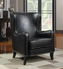 Black Leather Accent Chair Leather Crocodile Chairs Search Rock Home Decor