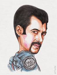 premium quality handmade caricatures of celebrities like aamir