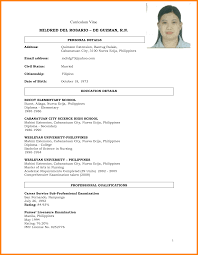 Resume Sample Format For Job Application Philippines by Sample Resume For Filipino Nurses Applying Abroad Augustais