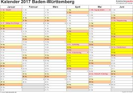 Baden Wuttemberg Kalender 2017 Baden Württemberg Ferien Feiertage Word Vorlagen