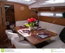 Mahogany Furniture Concept Modern Yacht Interior Stock Image Image 32097341
