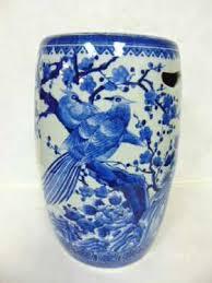 a chinese antique blue u0026 white porcelain stool