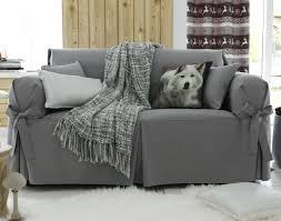 housse canapé gris housses à nouettes pour fauteuil ou canapé house