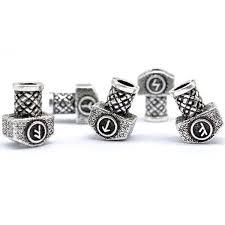 viking beard rune rings runic ornaments runes jewelry