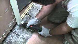 How To Cut Door Frame For Laminate Flooring Undercutting Door Frames Youtube