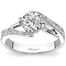 swirl engagement rings barkev s bypass swirl diamond engagement ring