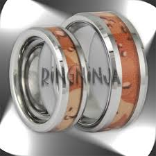 Camo Wedding Ring Sets by Camo Tungsten Rings And Wedding Bands By Ring Ninja