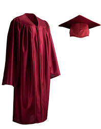 pre k cap and gown child shiny maroon cap gown graduationsource