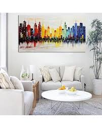 living room canvas spectacular deal on no frame modern city canvas abstract painting
