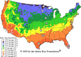 map zones hardiness zone map at arborday org