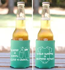 shower koozie baby shower favors raise a give a cheer personalized can