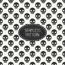 skull wrapping paper geometric seamless pattern with skulls and bones wrapping