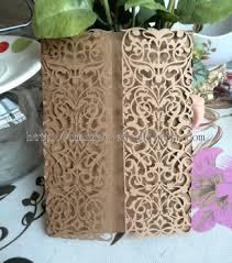 Kraft Paper Wedding Invitations Laser Cut Kraft Paper Wedding Invitation Cards Buy Kraft Paper