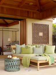 outdoor daybed with canopy patio tropical with carved wood chaise