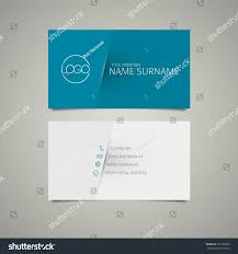 Simple Business Cards Templates Modern Simple Business Card Template Place Stock Vector 216108166