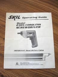 skil cordless model 2305 screwdriver operating guide or manual