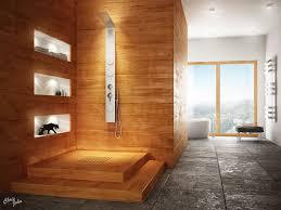 Stone Bathroom Design Ideas Mozaic Pattern River Rock Floor Tile Stone Bathrooms Design Blue