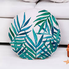 2017 new watercolor plants round cushion covers cotton linen throw