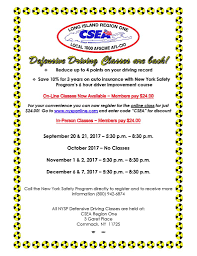 6 hours class online defensive driving classes are open for registration csea s the