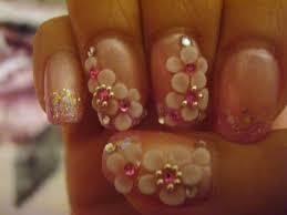 beautiful 3d nail art flowers fashionate trends