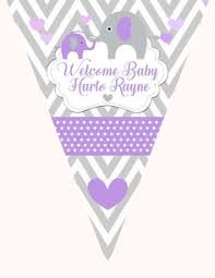 purple elephant baby shower decorations lavender purple grey elephant girl baby shower decorations and
