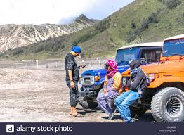 jeep indonesia bromo indonesia july 23 2016 unidentified tourists sitting on
