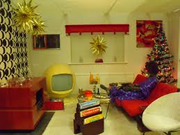 typical 1970s living room at christmas time a mix of styles