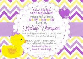 sample wording duck baby shower invitations templates saflly