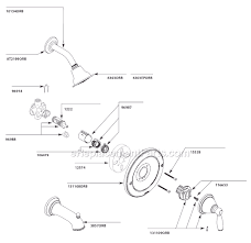 Shower Faucet Parts Replacement Moen T2152orb Parts List And Diagram Ereplacementparts Com
