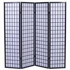 tokyo japanese handmade room divider privacy screen black 4