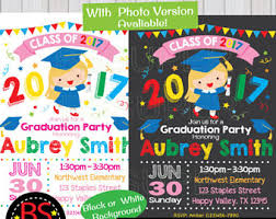 kindergarten graduation invitations graduation party invitation preschool kindergarten chevron