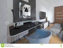 Coiffeuse Design Pour Chambre by Coiffeuse Et Chaise Dans Une Chambre à Coucher Moderne