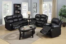 3 piece recliner sofa set 3 piece black classic bonded leather recliner set golden coast