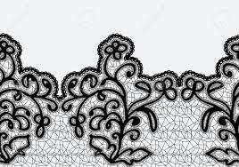 black lace ribbon seamless horizontal lace ribbon with flowers black lace on a