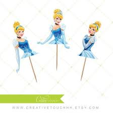 Cinderella Cupcakes Cinderella Cupcake Toppers Princess Cinderella Disney Princess