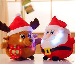 new year toys plush toys 25cm led christmas gift santa claus