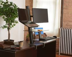 Sit Stand Desk Converter by Taskmate Go Sit Stand Desk Laptop U0026 Monitor Mount W Large Work