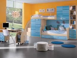 furniture beautiful blue yellow wood glass luxury design bedroom