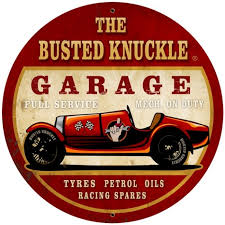 vintage old race car round metal sign 28 x 28 inches race cars